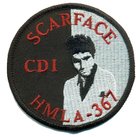 HMLA-367 Scarface Flightline Qualification Patches