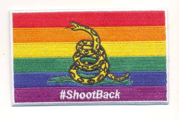 LBGT Shoot Back Patch- With Hook and Loop