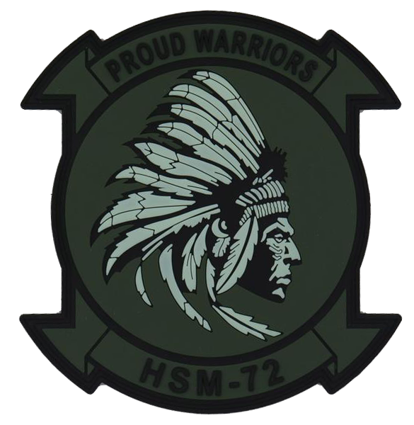 US Navy HSM-72 Proud Warriors PVC GITD