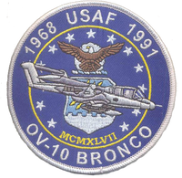 USAF OV-10 Bronco Patch- With Velcro