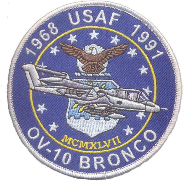 USAF OV-10 Bronco Patch- With Hook and Loop
