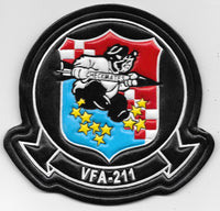 U.S. Navy VFA-211 Checkmates Leather Patch