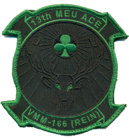 VMM-166 13th MEU Blackout/Green- With Velcro