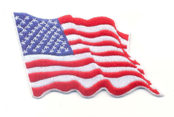 Wavy American Flag-With Velcro