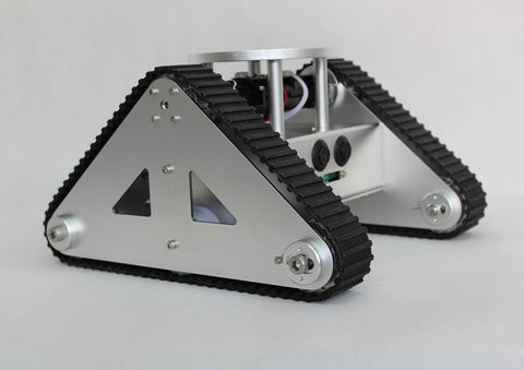 Tri-Tracked Tank Robot Kit with Ultrasonic Sensors