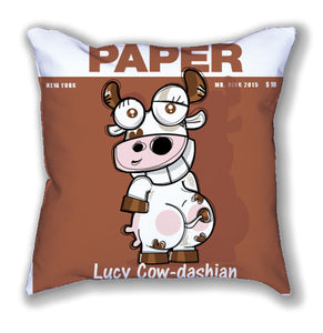 Mr. Oink Cow-Dashian Pillow