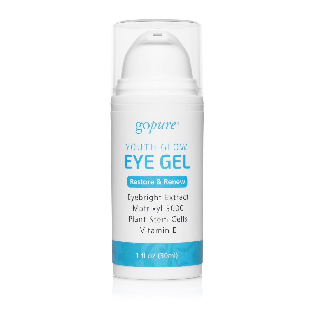 goPure Eye Gel with Plant Stem Cells, Matrixyl 3000, Cucumber, Peptides, Vitamin E and Aloe Vera