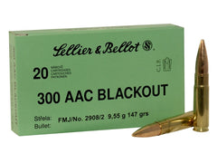 SELLIER AND BELLOT c.300 AAC (BLACK OUT) 147GR FMJ