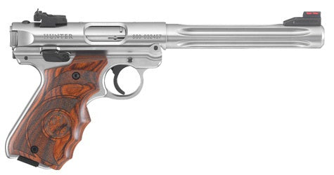 "RUGER MKIV HUNTER PISTOL 22LR 6.88"" BULL BARREL"