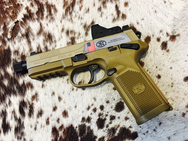 FN FNX-45T TACTICAL DA/SA MS 45 Auto FDE with Eotech MRD combo