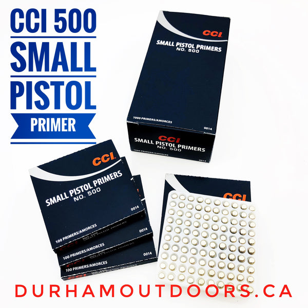 CCI. 500 STD SMALL PISTOL PRIMERS 1000PK