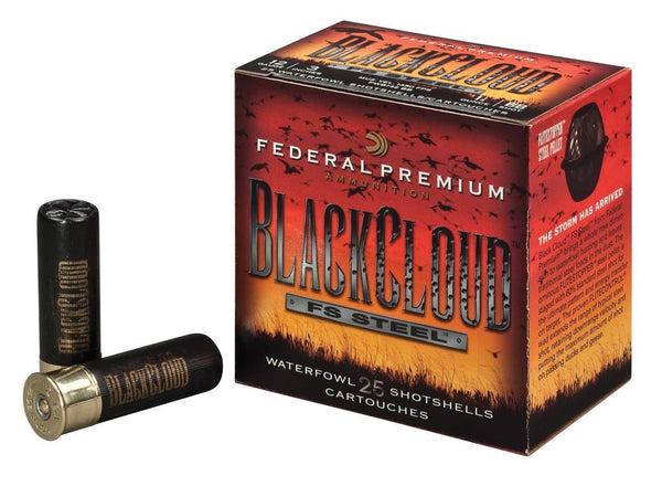"FEDERAL 12GA 3.5"" 1.5OZ BB BLACK CLOUD WATERFOWL SHOTSHELLS 25RDS - PWB134BB"
