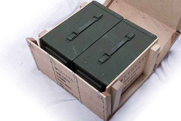 Federal M855 1600rds 62gr FMJ 5.56mm Wooden Ammo Crate