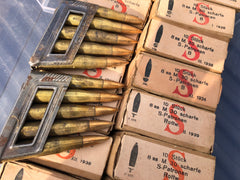 1938 1939 NAZI  8 x 56R Rifle Ammo  in original 10-rd. boxes