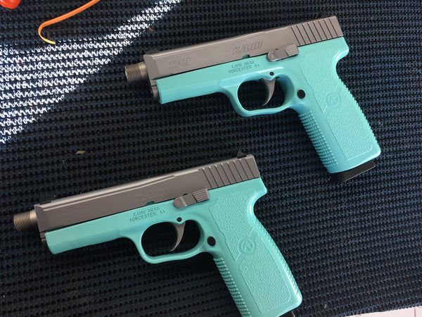 KAHR TP9 9mm single stack  with 3 mags in Tiffiny Blue