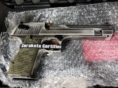 "DESERT EAGLE C.44 MAG 6"" WHITE MATTE DISTRESSED"
