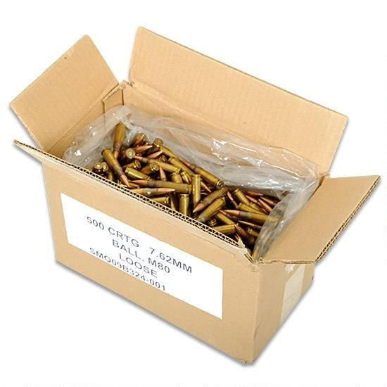 FED XM80CS 7.62X51 NATO 308WIN 149GR FMJ 500RD CASE