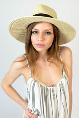 Brixton Willow Hat Cream/Brown