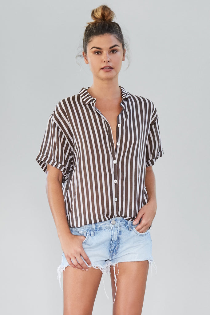 ACACIA Kipu Button Up Top Upper East Side