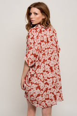 ACACIA Mombasa Shirt Dress Rust Magnolia