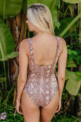 Acacia Swimwear Hideaways Full Piece Python