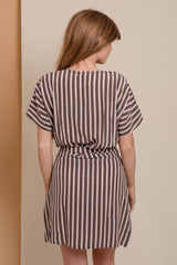 ACACIA Rome Silk Wrap Dress Upper East Side