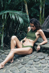 Stone Fox Swim Venice Top Olive/Bare