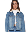 MINK PINK + INTO THE WILD TIGER BLOSSOM DENIM JACKET