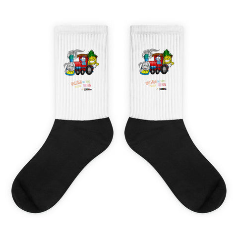 "Dabblicious ""Pineapple Express"" Socks"
