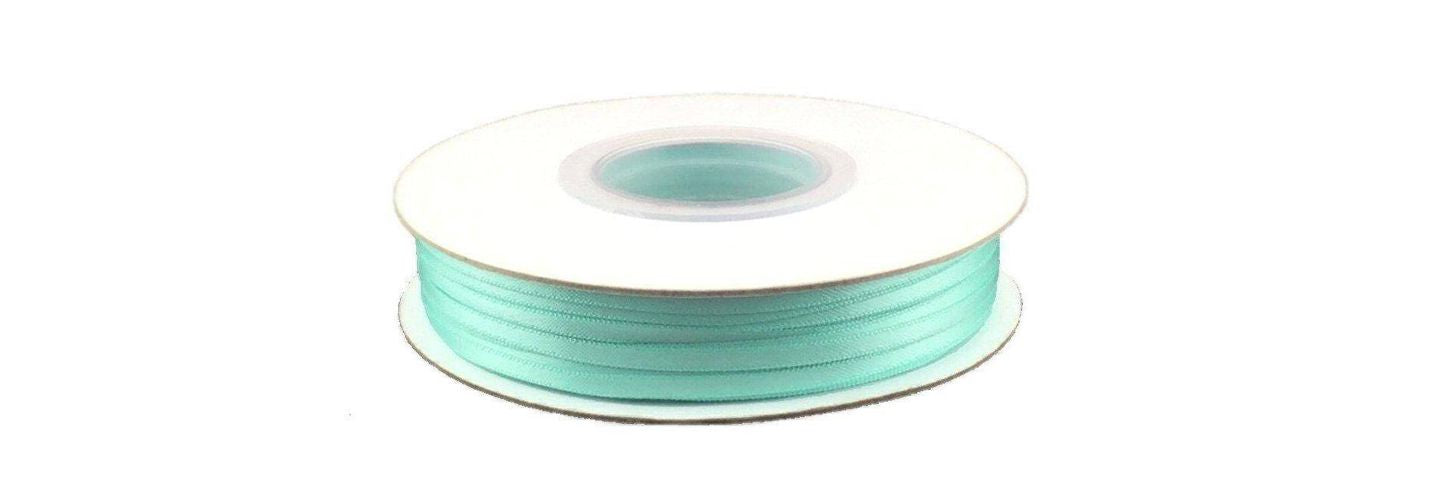Feedback - 1/8in. Aqua Blue Satin Ribbon