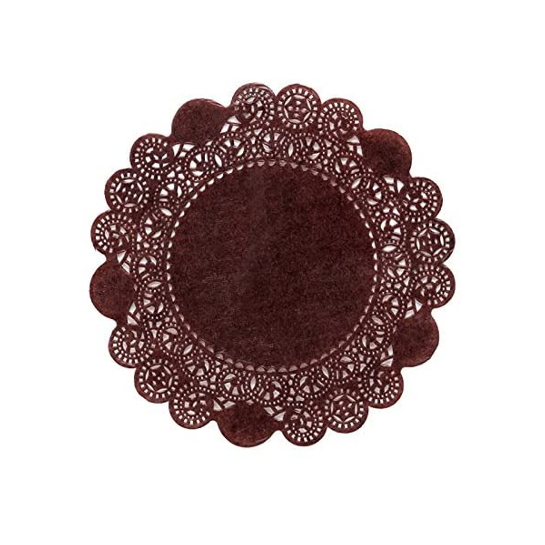 New - Chocolate Brown Doilies