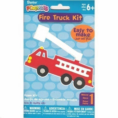 fire truck craft, fire truck craft kit, make a fire truck, boy craft kit, craft kit for boy