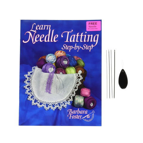 learn needle tatting step-by-step kit, needle tatting, learn tatting, diy tatting