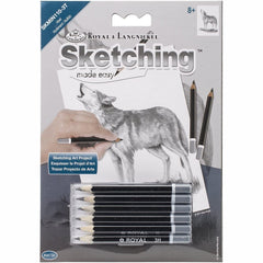 wolf craft, wolf craft kit, draw a wolf, sketching kit, sketching craft kit, beginner sketching