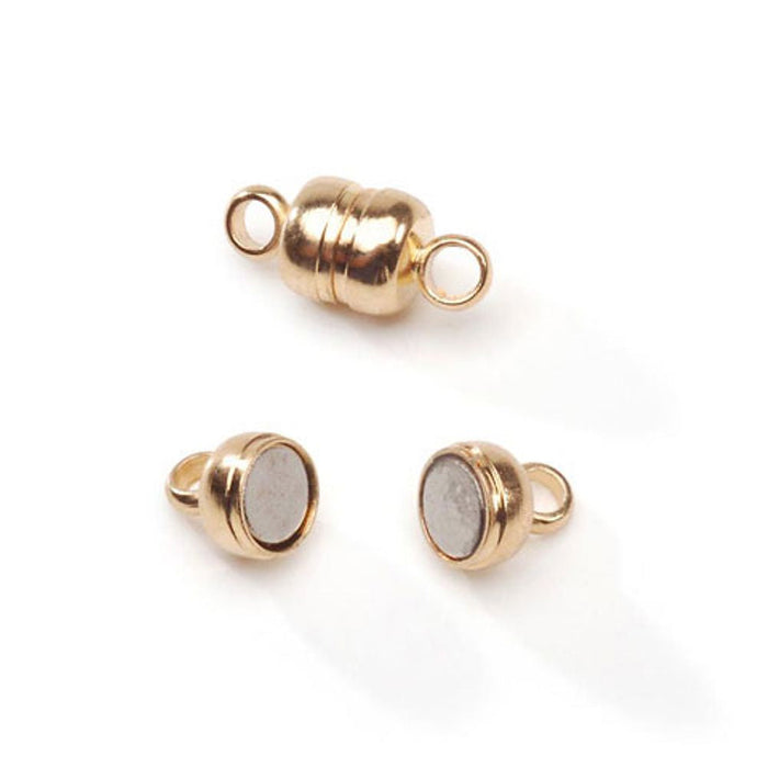 Gold Magnetic Clasp - 5 x 11mm - 6 Pieces (dar196848)