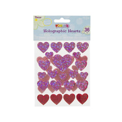 Foamies(r) Stickers - Hearts - Hot Pink and Red - 36 Pieces (dar1066253d)