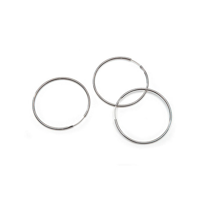 Earring Hoops - Silver Plated - 36mm - 10 Pieces (dar1999288)