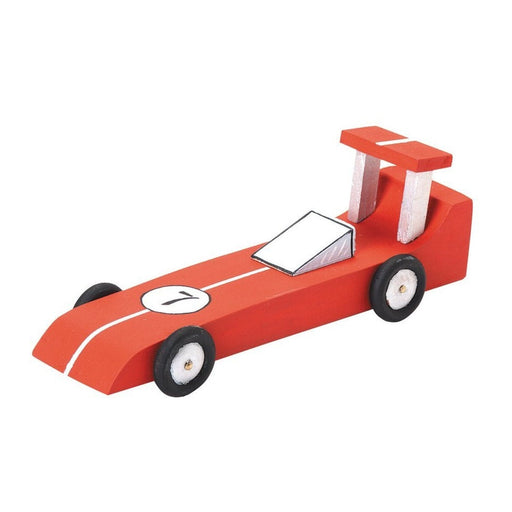 Unfinished Race Car Wood Craft Kit - Unfinished When Fully Assembled (dar916903)