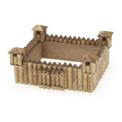 Unfinished Fort Wood Craft Kit - Unfinished When Fully Assembled (Darice 9181-23)