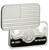 Limited Edition (20) .999 Pure 1 Oz. Chris Kyle Frog Foundation Sheet of Silver Bars (Flag/Foundation Logo)