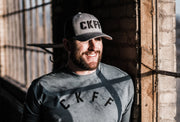 CKFF 3D Mesh Snapback Hat - Heather Grey/Black
