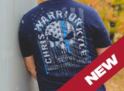 CK Warrior - Blue Line Warrior T-Shirt T-shirt Stitches Ink
