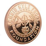 Limited Edition Roll - (20) .999 Pure One Ounce Chris Kyle Frog Foundation Copper Commemorative (American Flag) Fine Copper Coins