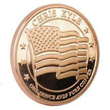 Limited Edition - .999 Pure One Ounce Chris Kyle Frog Foundation Copper Commemorative (American Flag) Fine Copper Coin