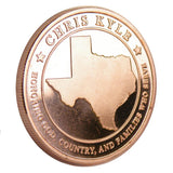 Limited Edition Roll - (20) .999 Pure 1 Oz. Chris Kyle Frog Foundation Copper Commemorative Coins (Texas)