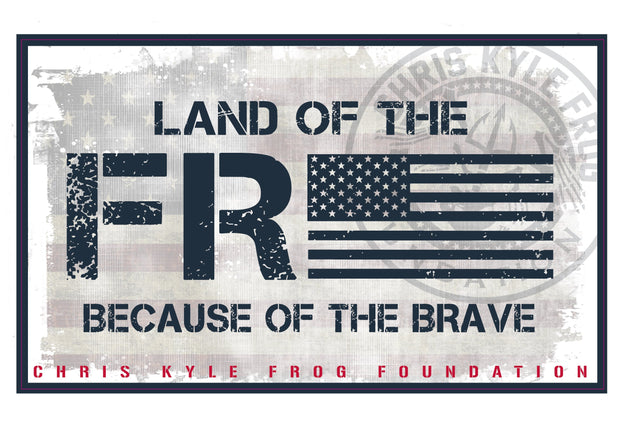 Land of the Free Decal Decal Chris Kyle Frog Store