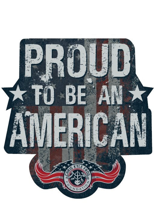 Proud To Be An American Decal Decal Chris Kyle Frog Store