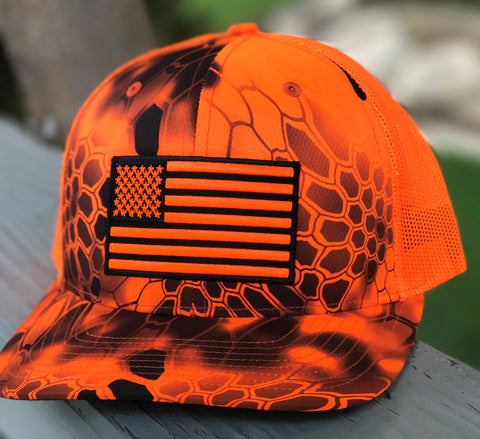 Mesh Kryptek Snap Back - Flag - Inferno/Orange