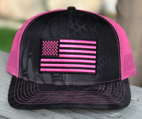 Mesh Kryptek Snap Back - Flag - Typhon/Pink - Small