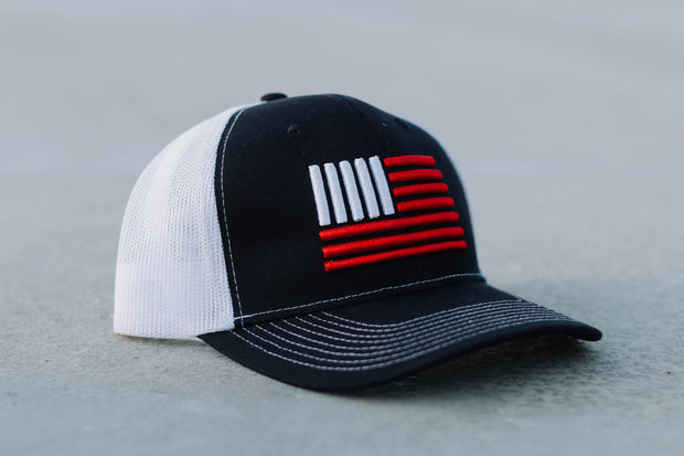 Signature 3D Flag Mesh Snapback Hat - Navy/Red/White Hat Chris Kyle Frog Store